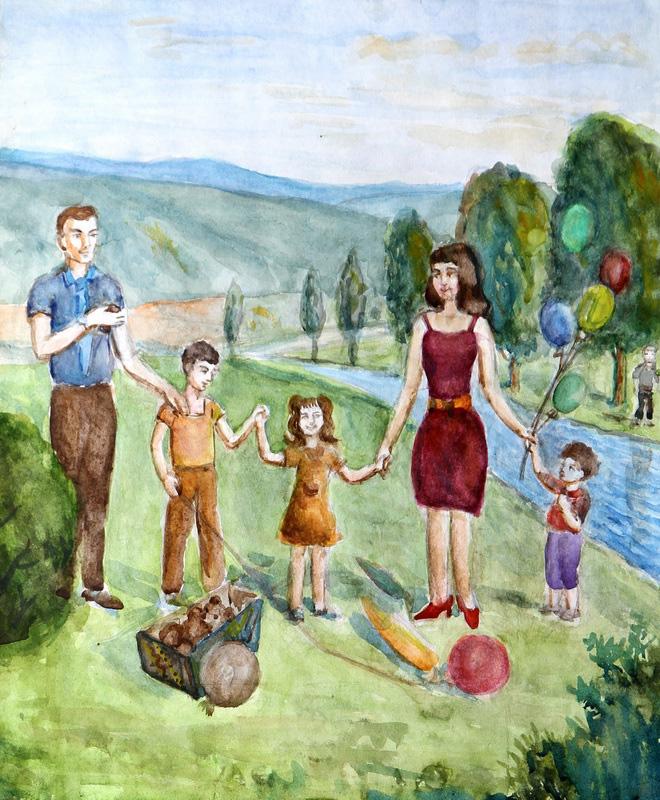 Моя семья сюжетная композиция как это картинки